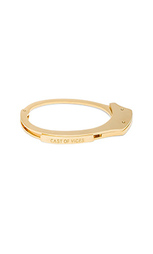 Handcuff 14k gold plated bracelet - Cast of Vices