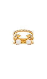 Кольцо triple pearl titan & crystal - Vita Fede