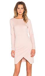 Облегающее платье из понте с длинным рукавом и запахом спереди - 1. STATE