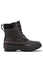 Ботинки cheyanne с верхом из зернистой кожи с завязкой - Sorel