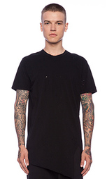 Простая футболка короткий рукав асимметричный nefarious - Drifter