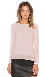 Блуза с прозрачными длинными рукавами и подолом - 1. STATE