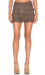 Плиссированная юбка в клеточку с пряжкой сбоку - J.O.A.