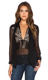 Блуза с шалевым воротником на завязке - Twelfth Street By Cynthia Vincent