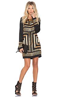 Сатиновое платье с украшением - Mara Hoffman