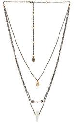 Ожерелье с ярусным бисерным подвесом - Ettika