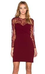 Кружевное платье crepe and lace - The Kooples