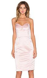 Атласное платье без бретелек marta - MILLY
