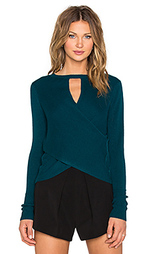 Свитер long sleeve cross back - Halston Heritage