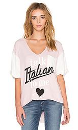 Футболка с рисунком talk italian to me - Wildfox Couture