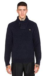 Вязаный свитер с шалевым воротником - Fred Perry