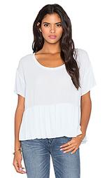 Тканная футболка со складками - Bella Luxx