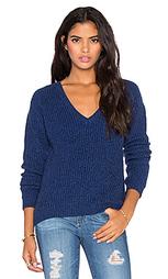 Свободный свитер с v-образным вырезом - Bella Luxx