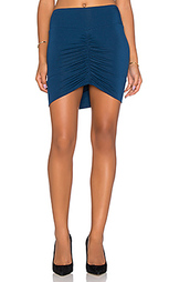 Мини юбка со сборками спереди - Bella Luxx