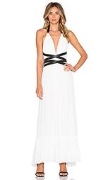 Макси платье с v-образным вырезом и открытой спиной - T-Bags LosAngeles