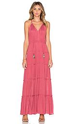 Макси платье с v-образным вырезом и завязкой с кисточками - T-Bags LosAngeles