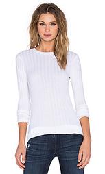 Кашемировый приталенный свитер с длинным рукавом и круглым вырезом - Enza Costa