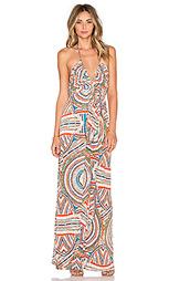 Макси платье с v-образным вырезом на бретельках - T-Bags LosAngeles