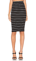 Юбка rib pencil skirt - Enza Costa