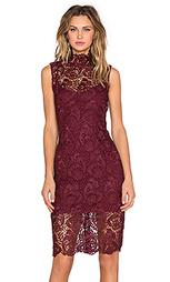 Кружевное платье с высоким воротом - BLAQUE LABEL