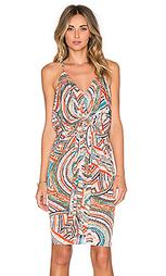 Миди платье с переплетом спереди - T-Bags LosAngeles