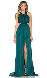 Вечернее шелковое платье с v-образным вырезом gloss - Needle & Thread