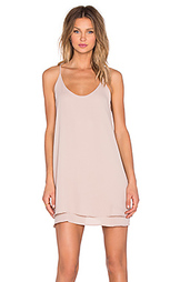 Мини платье double layer cami - krisa