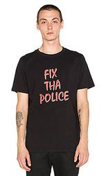 Футболка с рисунком fix the police - Lazy Oaf