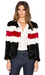 Меховая куртка knitted rabbit - Pam & Gela