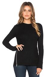 Свитер из ткани в рубчик с молнией сбоку и свободным подолом - Autumn Cashmere
