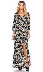 Макси-платье с запахом wandering willow - AUGUSTE