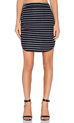 Полосатая юбка со складками - Bella Luxx