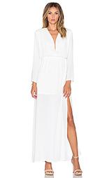 Платье с длинным рукавом и глубоким v-образным вырезом gemma - Three Eighty Two