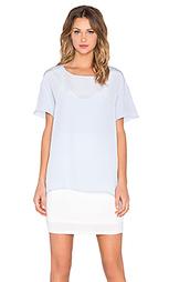 Платье-футболка с шелковым оверлеем - Heather