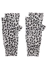 Перчатки без пальцев leopard print - Autumn Cashmere