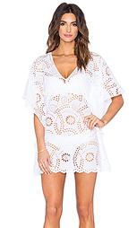Кружевное платье в восточном стиле с v-образным вырезом - Vix Swimwear