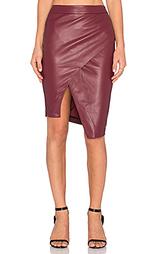 Кожаная юбка asymmetrical - BLAQUE LABEL