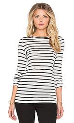 Шелковая полосатая футболка с длинным рукавом - Nightcap