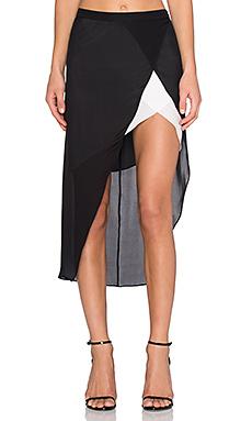 Контрастный разрез на юбке - Mason by Michelle Mason
