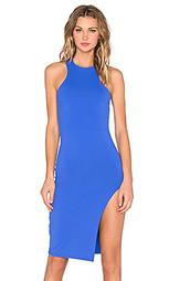 Миди платье с y-образными шлейками спереди - Donna Mizani