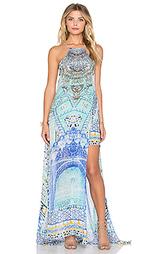Макси платье с прозрачным оверлеем - Camilla