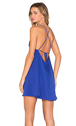 Платье с оборкой и квадратным вырезом - Donna Mizani