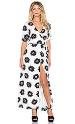 Макси платье с запахом и коротким рукавом - Lucca Couture