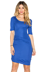 Платье с драпировкой спереди christina - three dots