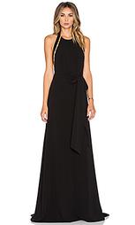 Вечернее платье с высоким воротом sleeveless - Halston Heritage