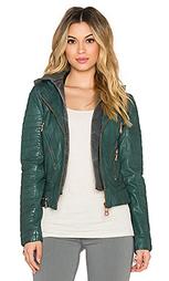Куртка hooded leather - DOMA