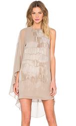 Мини платье с асимметричными рукавами - Halston Heritage