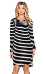 Мини платье striped long sleeve pocket - SUNDRY