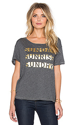 Футболка с рисунком sunday sunrise loose crew neck - SUNDRY