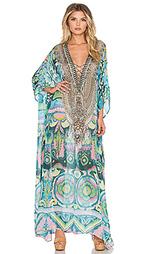 Длинное платье в восточном стиле на шнуровке - Camilla